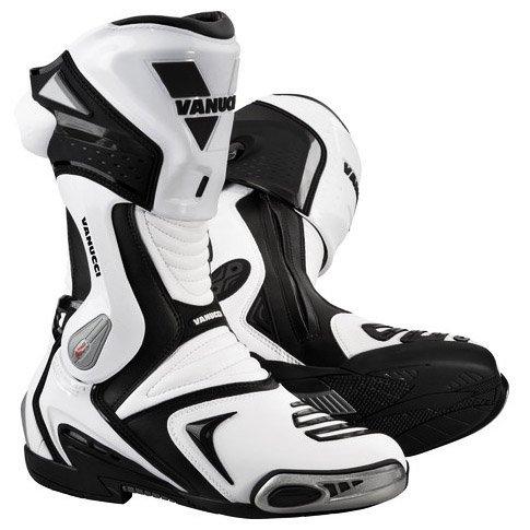 【VANUCCI】RV4 重型機車長筒靴(黑/白) - 「Webike-摩托百貨」