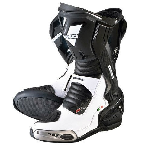 【VANUCCI】RV5 PRO 重型機車長筒靴(黑/白) - 「Webike-摩托百貨」