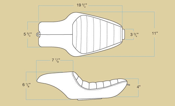 【Biltwell】SPEEDWAY坐墊(素材) 04-06/10-14年 SPORTSTER用 - 「Webike-摩托百貨」