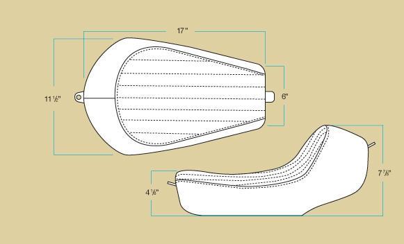 【Biltwell】CHAMPION坐墊(素材) 06-17 Dyna Glide用 - 「Webike-摩托百貨」