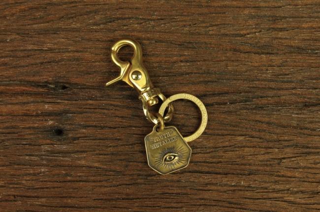 【Metalize Productions】旋轉麻花釦 TRUTH 黃銅牌鑰匙圈 - 「Webike-摩托百貨」