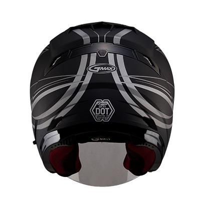【G-MAX】OF77 安全帽 (DERK)-消光黑/銀  - 「Webike-摩托百貨」