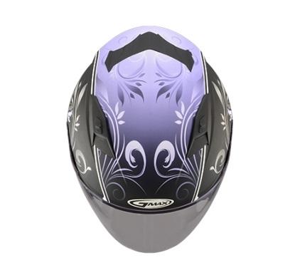 【G-MAX】OF77 安全帽 (蝴蝶3代)-消光黑/紫  - 「Webike-摩托百貨」