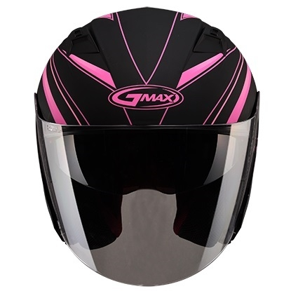 【G-MAX】OF77 安全帽 (DERK)-消光黑/粉  - 「Webike-摩托百貨」