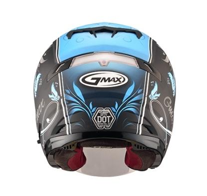 【G-MAX】OF77 安全帽 (蝴蝶3代)-消光黑/藍  - 「Webike-摩托百貨」