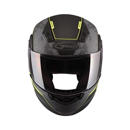 【G-MAX】MD04 可掀式安全帽 (迷彩)-消光黑/黃  - 「Webike-摩托百貨」