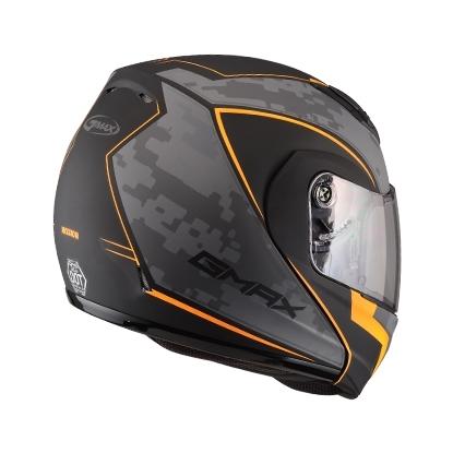 【G-MAX】MD04 可掀式安全帽 (迷彩)-消光黑/橘  - 「Webike-摩托百貨」