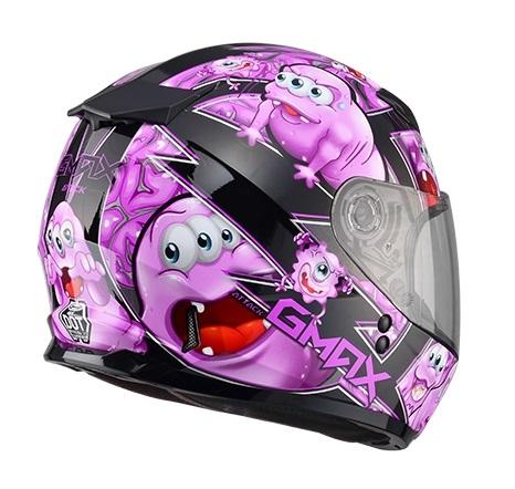 【G-MAX】GM49 YOUTH 全罩式安全帽 (精靈)-黑/紫  - 「Webike-摩托百貨」