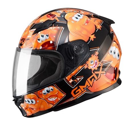 【G-MAX】GM49 YOUTH 全罩式安全帽 (精靈)-黑/橘  - 「Webike-摩托百貨」