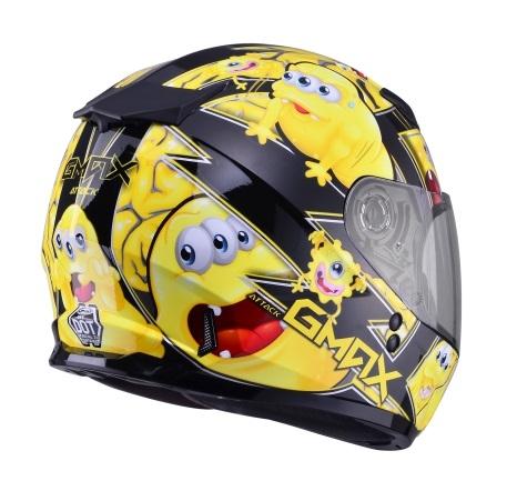 【G-MAX】GM49 YOUTH 全罩式安全帽 (精靈)-黑/黃  - 「Webike-摩托百貨」
