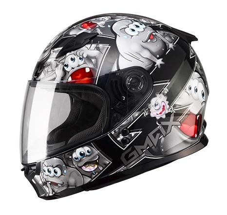【G-MAX】GM49 YOUTH 全罩式安全帽 (精靈)-黑/銀  - 「Webike-摩托百貨」