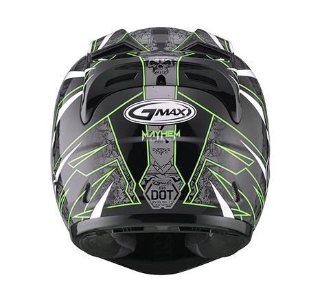 【G-MAX】GM69 全罩式安全帽 (閃靈)-黑/綠  - 「Webike-摩托百貨」