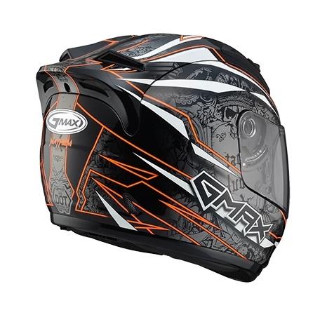 【G-MAX】GM69 全罩式安全帽 (閃靈)-黑/橘  - 「Webike-摩托百貨」