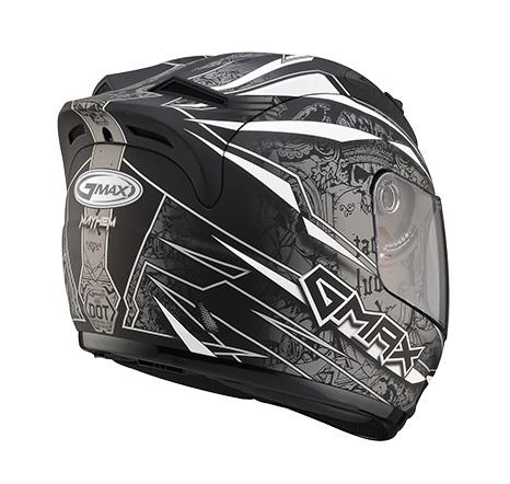 【G-MAX】GM69 全罩式安全帽 (閃靈)-消光黑/銀  - 「Webike-摩托百貨」