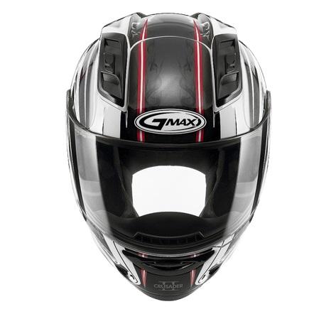 【G-MAX】GM69 全罩式安全帽 (戰神2代)-白/紅  - 「Webike-摩托百貨」