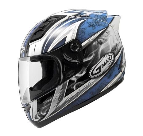 【G-MAX】GM69 全罩式安全帽 (戰神2代)-白/藍  - 「Webike-摩托百貨」
