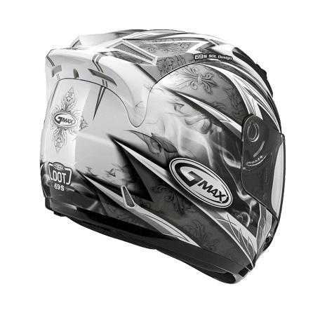 【G-MAX】GM69 全罩式安全帽 (戰神2代)-白/銀  - 「Webike-摩托百貨」