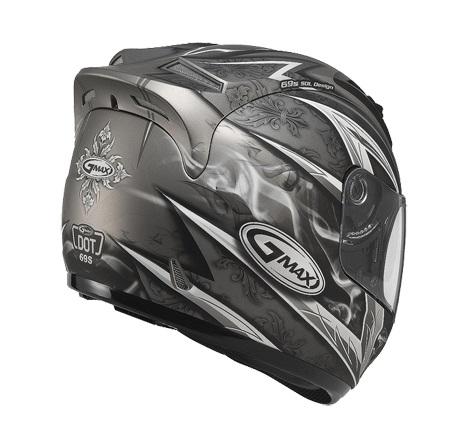 【G-MAX】GM69 全罩式安全帽 (戰神2代)-鈦/銀  - 「Webike-摩托百貨」
