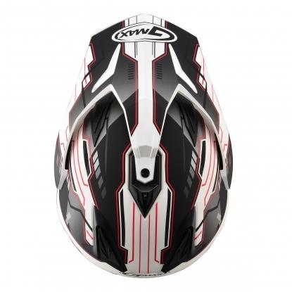 【G-MAX】GM11 全罩式安全帽 (冒險)-消光白/黑紅  - 「Webike-摩托百貨」