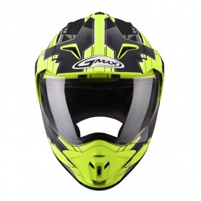 【G-MAX】GM11 全罩式安全帽 (冒險)-消光黑/螢光黃  - 「Webike-摩托百貨」