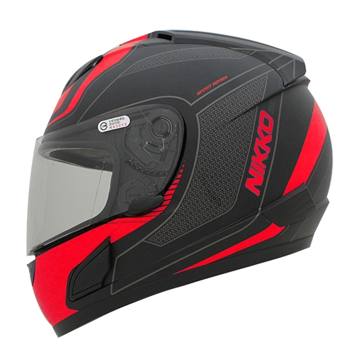 【NIKKO】NK-805 全罩式安全帽 #3彩繪 (黑/紅) - 「Webike-摩托百貨」
