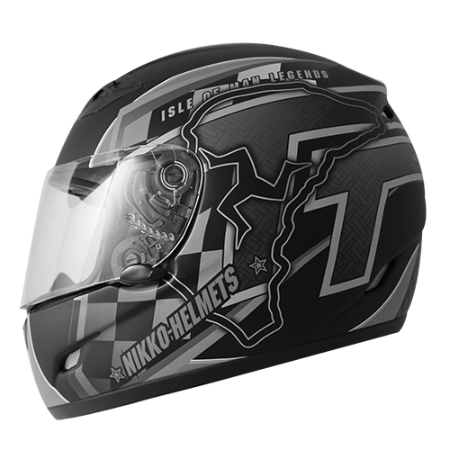 【NIKKO】NK-800T 全罩式安全帽 #7彩繪 (黑/銀) - 「Webike-摩托百貨」