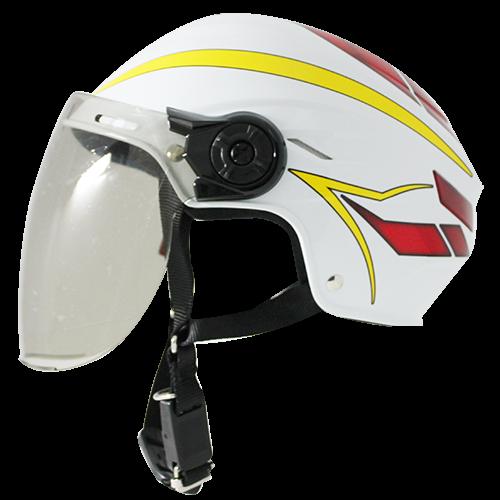 【NIKKO】TU-201A 半罩式安全帽 #1彩繪 (白/紅/黃) - 「Webike-摩托百貨」