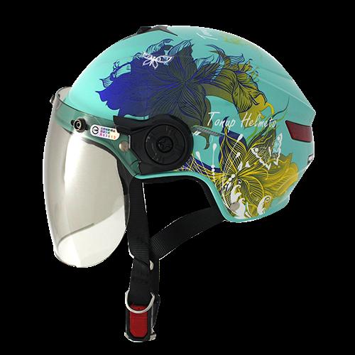 【NIKKO】TU-201A 半罩式安全帽 #2彩繪 (天使綠/藍/黃) - 「Webike-摩托百貨」