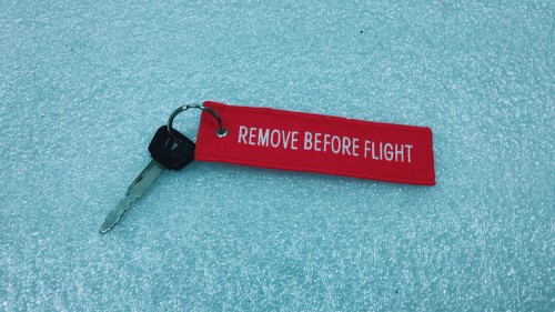 REMOVE BEFORE FLIGHT 鑰匙圈 Louis
